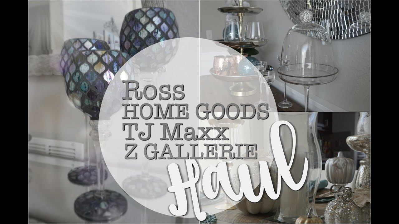 Tj Maxx Home Goods Ross Z Gallerie Haul Christmas