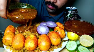 EGG BIRYANI WITH CHICKEN CURRY EATING VIDEO#HungryPiran
