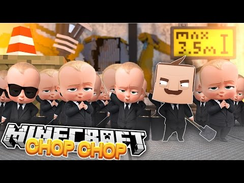 Minecraft CHOP CHOP - BOSS BABY & HELLO NEIGHBOUR GET CHOPPED UP - Donut the Dog Minecraft Roleplay
