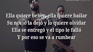 Anuel AA - Ella Quiere Beber (Remix) LETRA ft. Romeo Santos