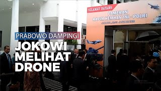 Didampingi Prabowo, Jokowi Lihat Drone Kombatan Elang Hitam Buatan Indonesia