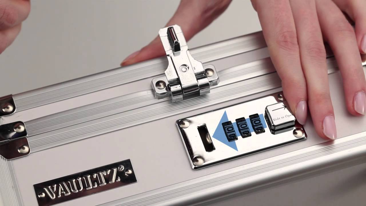 How To Set Tumbler Combination For Vaultz Locking Cash Box Youtube