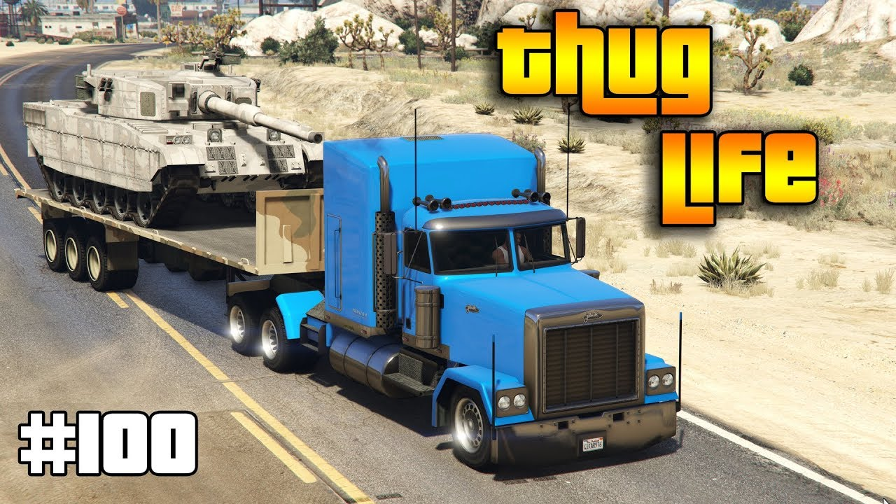 GTA 5 ONLINE : THUG LIFE AND FUNNY MOMENTS (WINS, STUNTS AND FAILS #100)