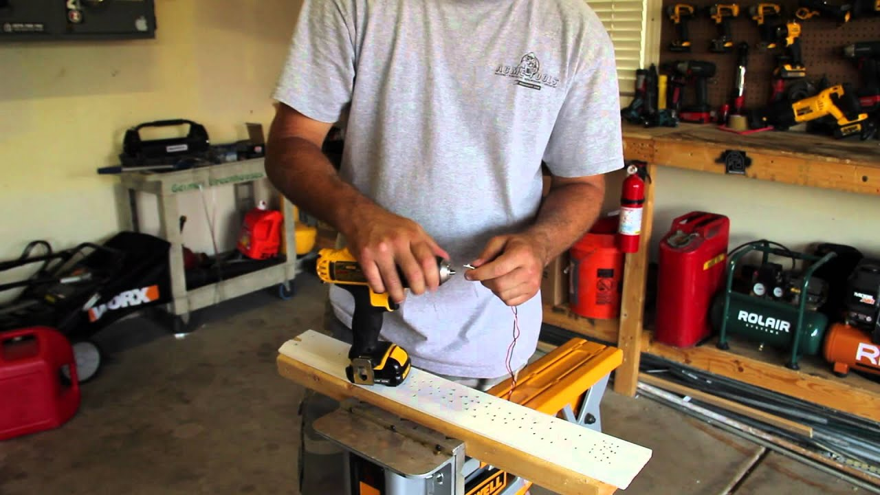 How to strand wire using a drill - YouTube