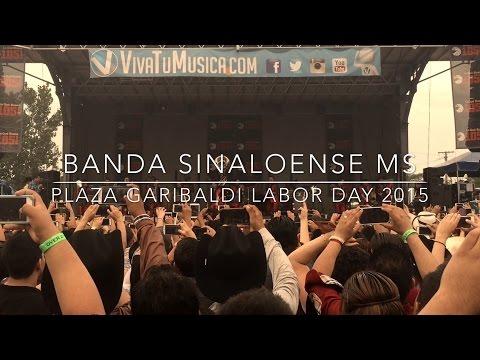 Banda Sinaloense MS En La Plaza Garibaldi Chicago, IL (9/7/2015)
