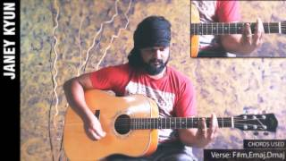Janey Kyun: Acoustic guitar lesson by Roney Maben (AYE KHUDA)