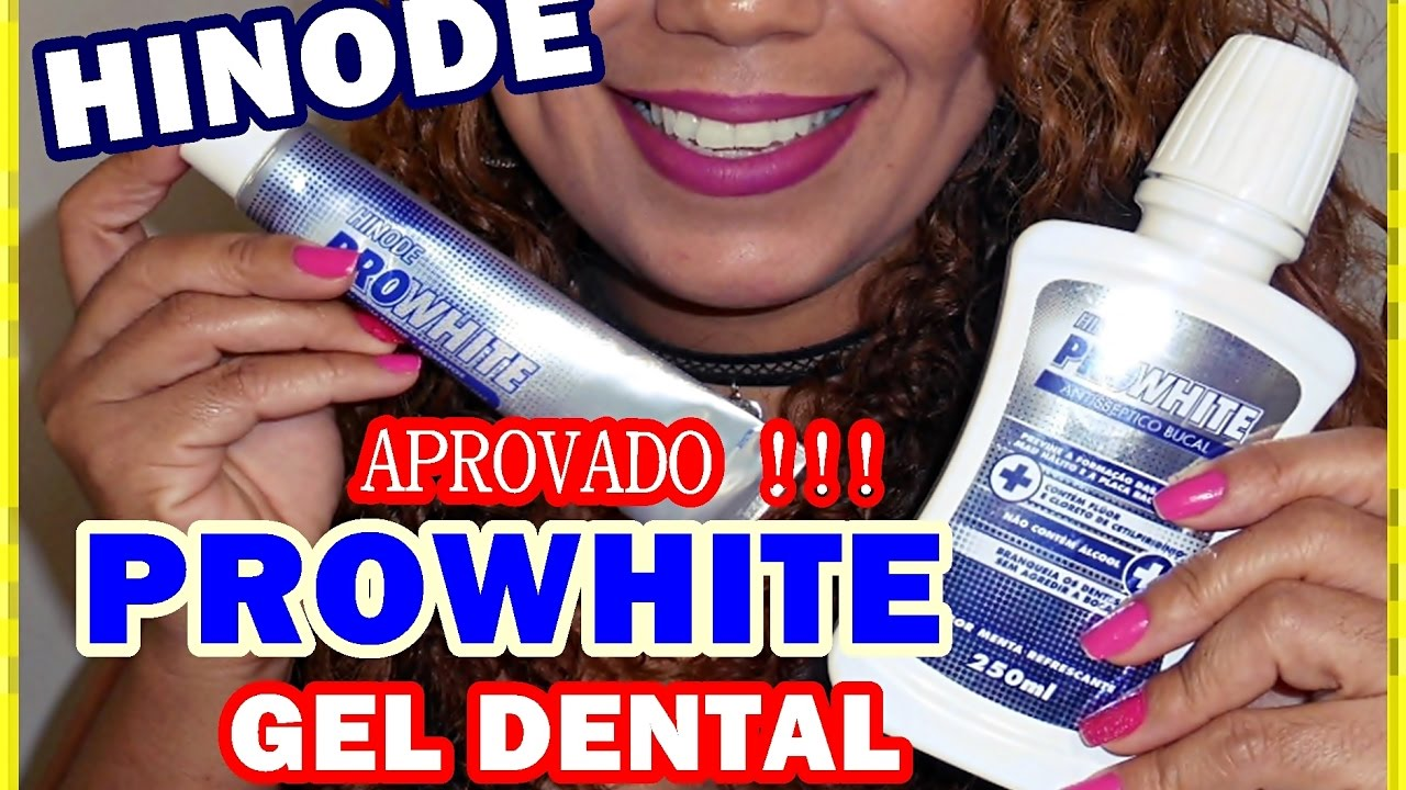 Gel Dental Pro White Hinode Aprovado Youtube