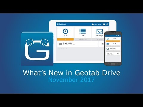 What's New in Geotab Drive for November 2017