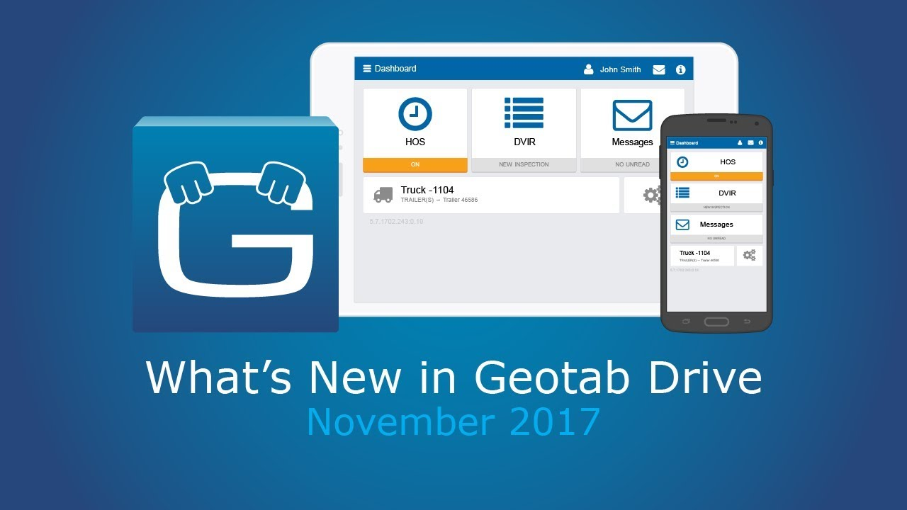 What's New in November 2017 | Geotab Drive