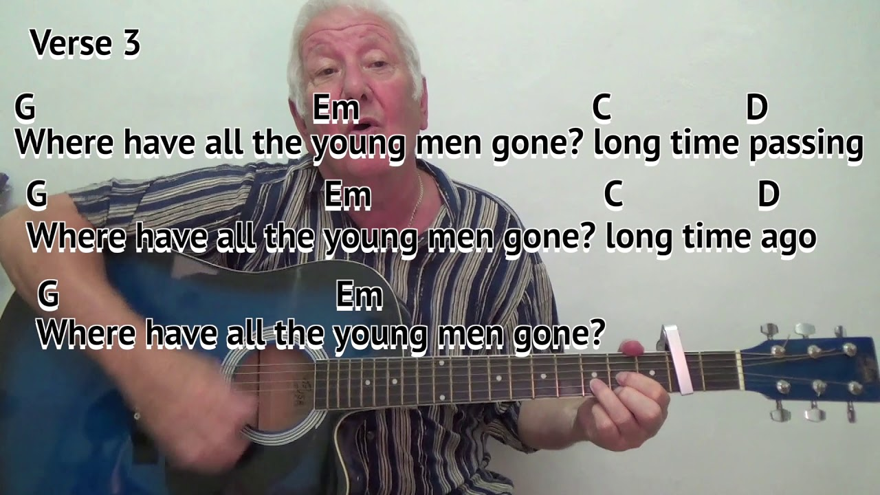 Where Have All The Flowers Gone Easy Chord Guitar Lesson With On