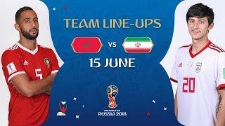 LINEUPS – Morocco v Iran - MATCH 4 @ 2018 FIFA World Cup™