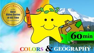 60 minutes! COLORS & WORLD ANIMALS ★ Best Educational Learning Songs ★ Nursery Babies Toddlers Kids