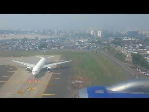 Mumbai Airport Landing. Посадка в аэропорту Мумбаи