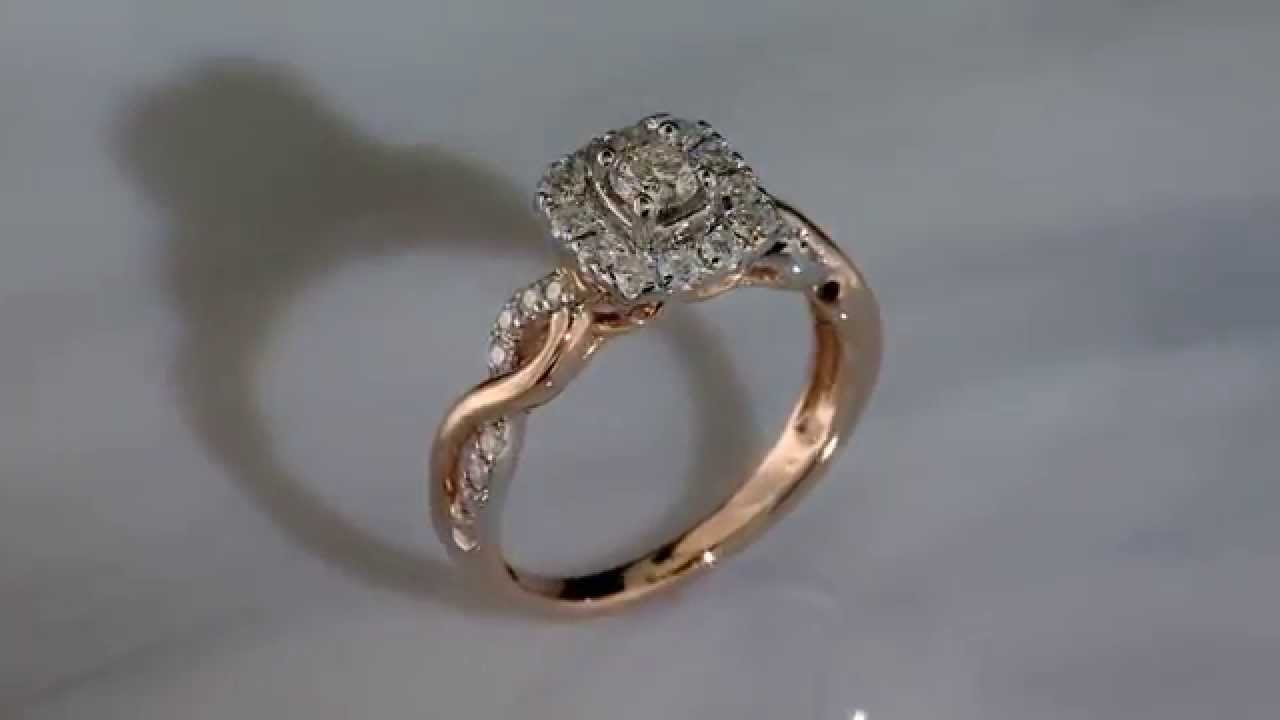diamond ring in white gold pin engagement cathedral twist infinity