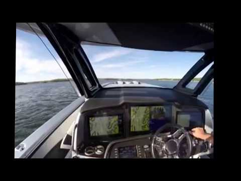 Test-driving the all-new MTI-V 57 with quad Seven Marine 627 engines.
