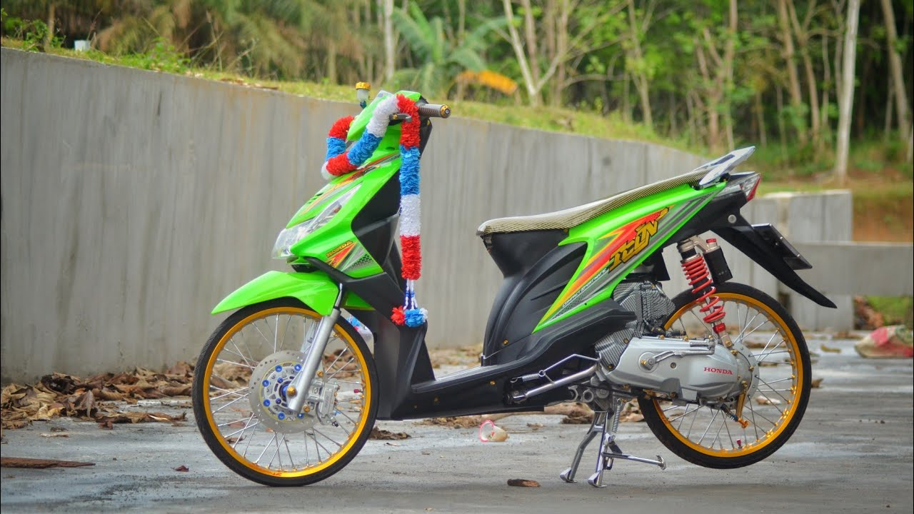 Modifikasi Honda Beat Karbu Thailook Youtube