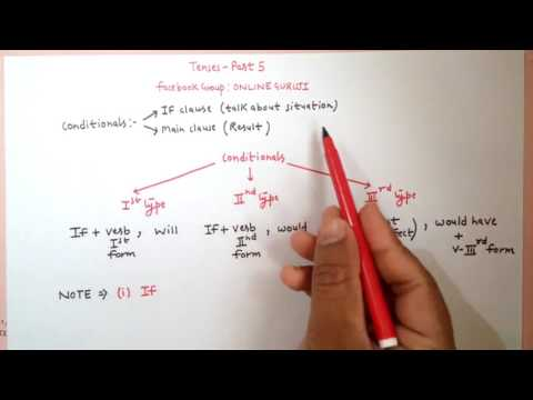 Conditional Tenses ( Tenses Part 5 ) SSC CGL|BANK PO| CLERICAL| MBA