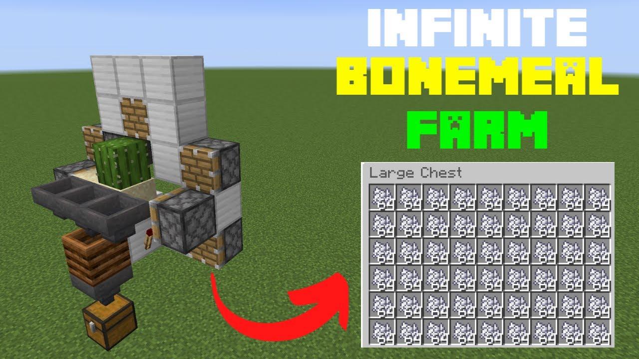 Minecraft Bedrock Tutorial New Fastest Bone Meal Farm Ps4 Xbox Mcpe Nintendo Switch Youtube