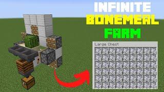 Minecraft Bedrock Tutorial: **NEW** FASTEST BONE MEAL FARM! PS4 / XBOX / MCPE / NINTENDO SWITCH!