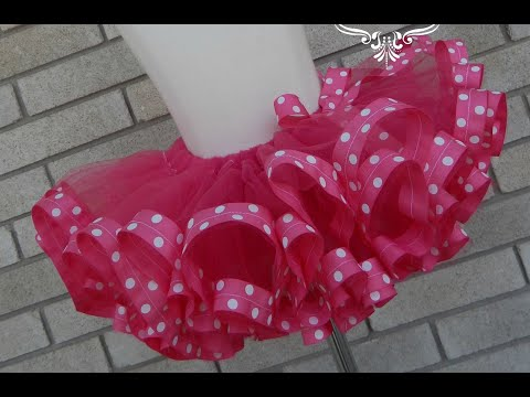How To Make Ribbon Trim Tutu By Just Add Bow