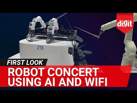 Here's What Happens When 3 Robots Form a Band | Musical Concert by ZTE Musician Robots | Digit.in