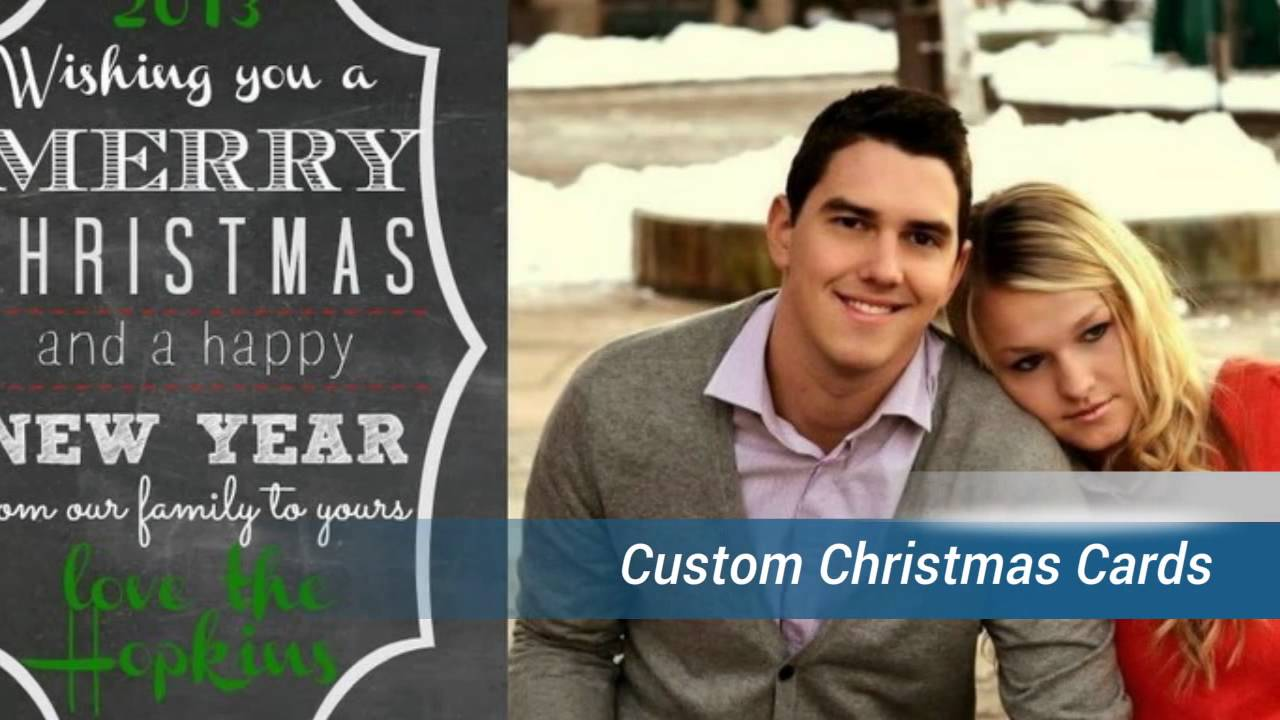 Christmas Photo Cards & Custom Photo Christmas Cards - YouTube