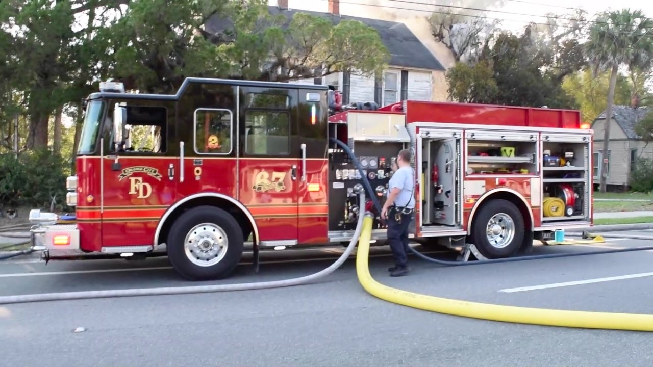 Two Alarm Structure Fire Units On Scene In Orange City