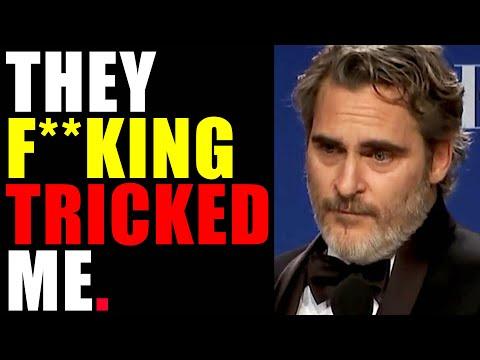 Joaquin Phoenix TRICKED at Golden Globes after Best Actor SPEECH for JOKER ??