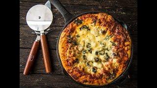 Baked Deep Dish Supreme Pizza | Traeger Wood Pellet Grills
