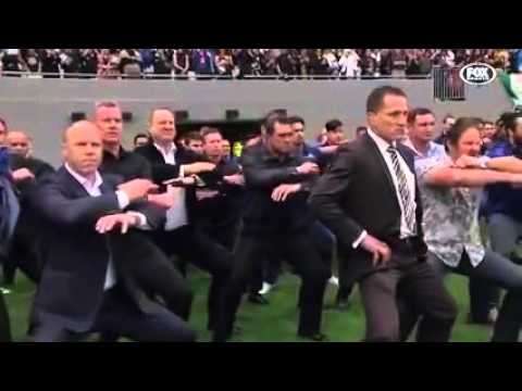 Jonah Lomu's former teammates perform an final haka