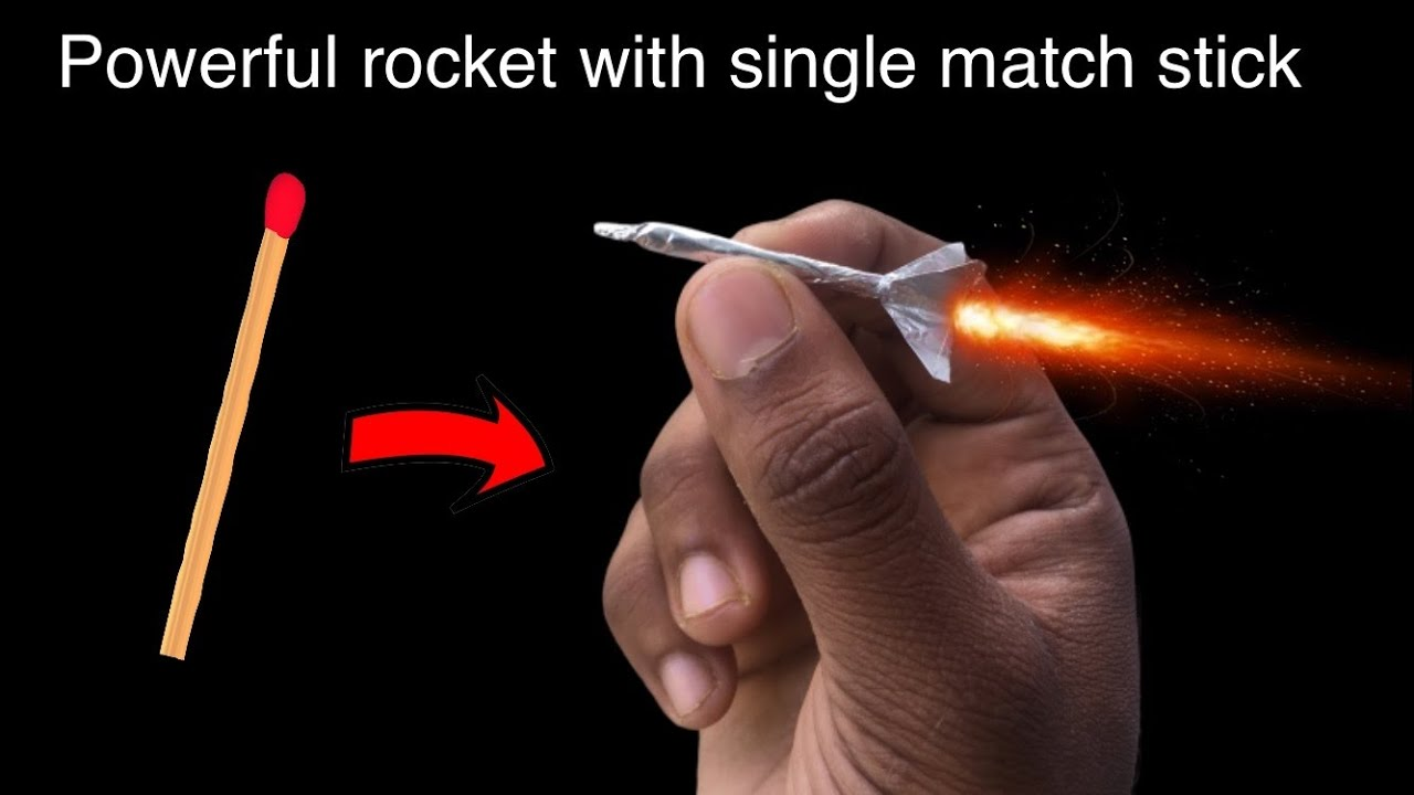 Download Awesome mini rocket with match stick 😱