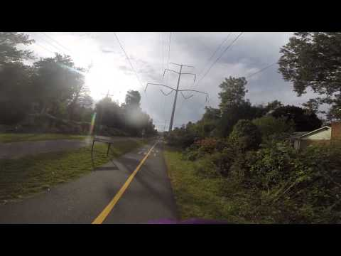 Biking on the  W&OD trail