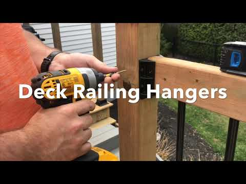How to install Deck railing hangers