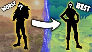 RANKING *EVERY* LEGENDARY SKIN FROM WORST TO BEST!!! (My Opinion) - Fortnite Battle Royale