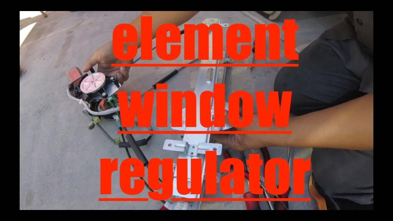 Window Noise Stuck Down Motor Regulator Replacement Honda Element Fix It Angel