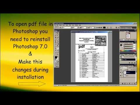 open a pdf in photoshop