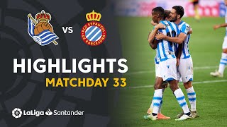 Highlights Real Sociedad vs RCD Espanyol (2-1)