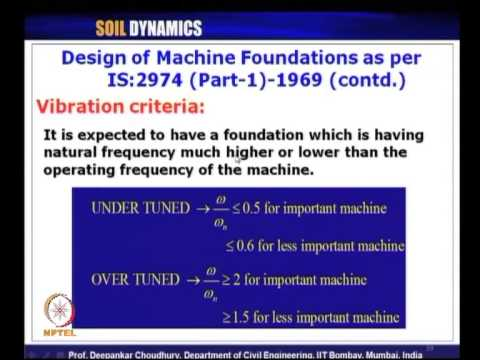 Mod-05 Lec-25 L25-Types of Machine Foundations, Methods of Analysis