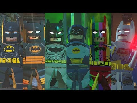 ALL Batman Suits in Lego Videogames (2008 - 2017)