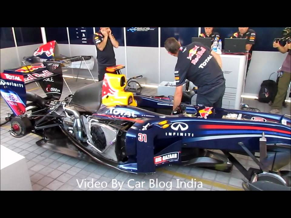 Sound Of An Engine Red Bull Formula Racing Car Engine Firing