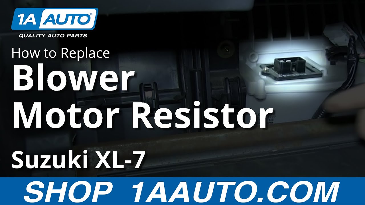 how to install replace heater ac fan speed resistor suzuki