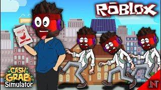 ROBLOX Indonesia #92 Cash Grab Simulator | Nyebarin Micin even Taxable