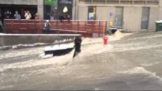 Girl swept away by flood at McGill