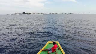 Male city to Maafushi island on the way in ferry
