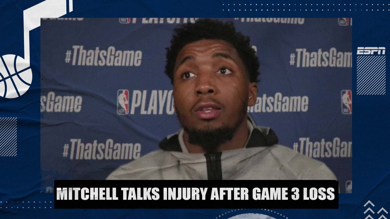 Donovan Mitchell talks injury after Jazz lose Game 3 to Clippers | 2021 NBA Playoffs