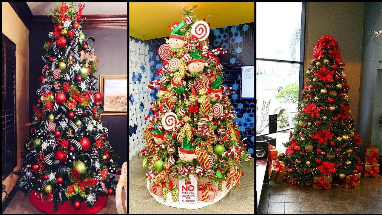 Christmas 2021 Decorating Ideas Top 10 Christmas Tree Ideas 2020 2021 Easy Diy Christmas Tree Decor Youtube
