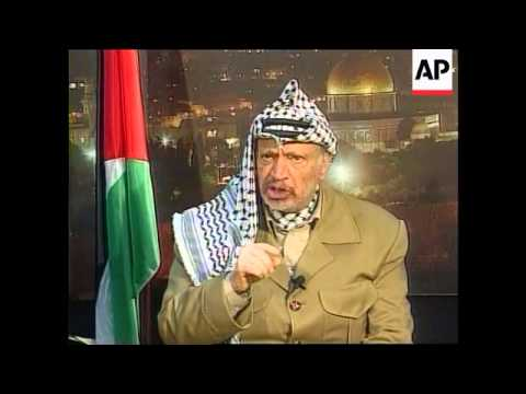 West Bank - Interview Yasser Arafat