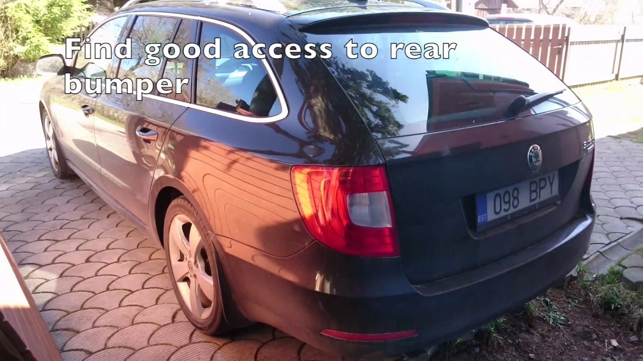 hight resolution of how to install detachable tow bar to skoda superb ii