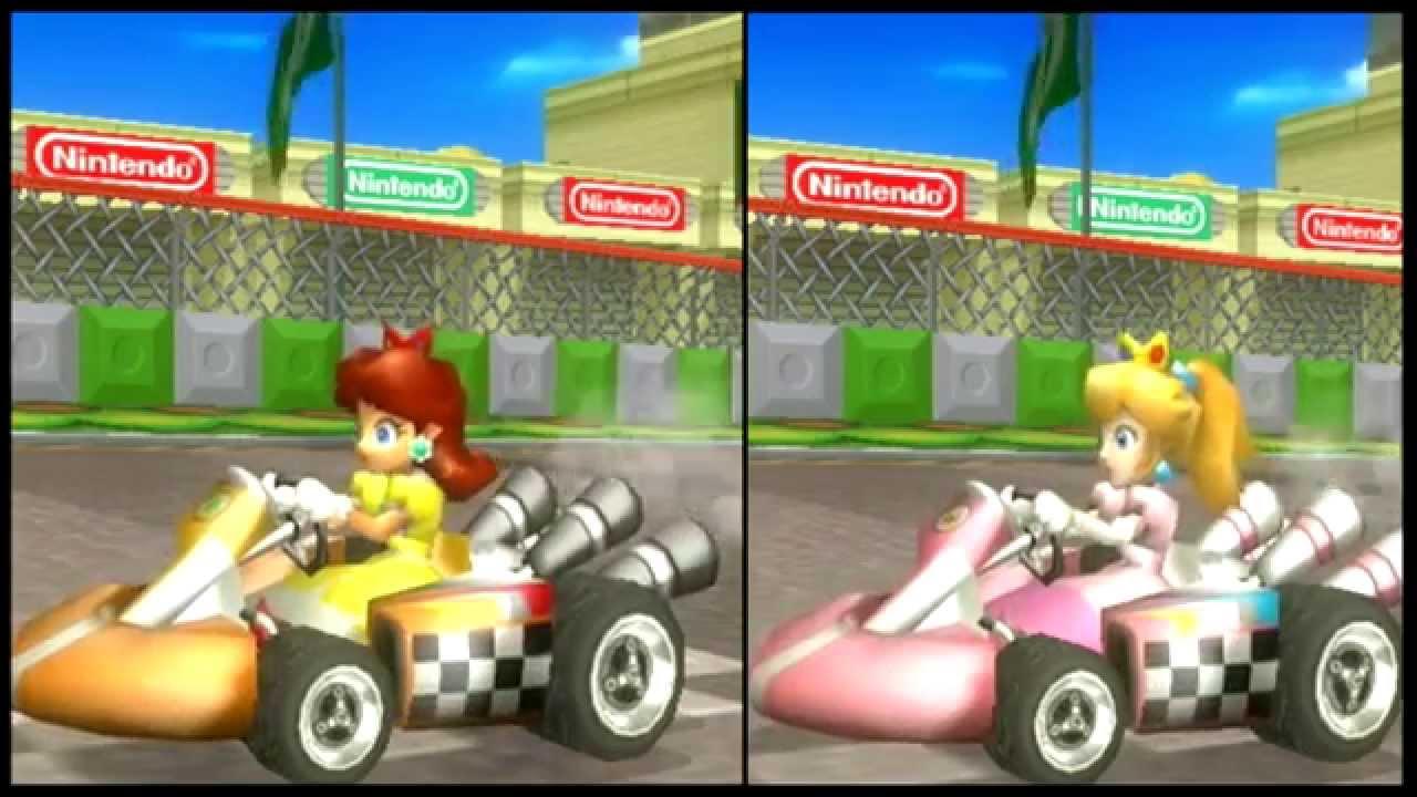 Mario Kart Wii Retro Peach Daisy Texture Hack