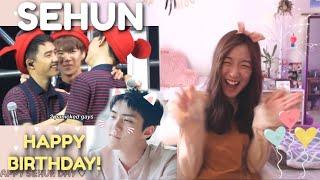 EXO SEHUN'S SILLINESS + SEHUN X HYUNGS MOMENTS REACTION #HappySehunDay 🎈🐣